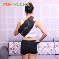 POP RELAX Health thermal tourmaline waist belt physiotherapy germanium jade heating electronic slimming back waist massage belt