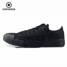 Original Converse all star mens and womens sneakers for men women canvas shoes all black low classic Skateboarding Shoes cheap Adult Future Suede Lite Concrete Floor Totem Light Weight Breathable Anti-Slippery Flat Lace-Up Classics Medium(B M) 1Z635