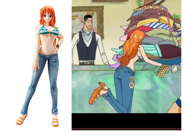 Sesso cosplay abbigliamento per nami one piece nami costume reggiseno e dei  jeans femminili costume cosplay spedizione gratuita d64558da891