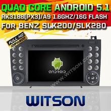 WITSON Android 5.1 Quad Core CAR DVD for  BENZ SLK200 SLK280 SLK350 SLK55 2004-2012 RADIO 1024X600 HD SCREEN+DVR/WIFI+16GB flash