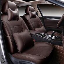(Спереди и сзади) специальный кожаный автомобиль чехлы для bmw e30 e34 e36 e39 e46 e60 e90 F10 F30 X3 X5 X6 автомобильные аксессуары Авто стиль