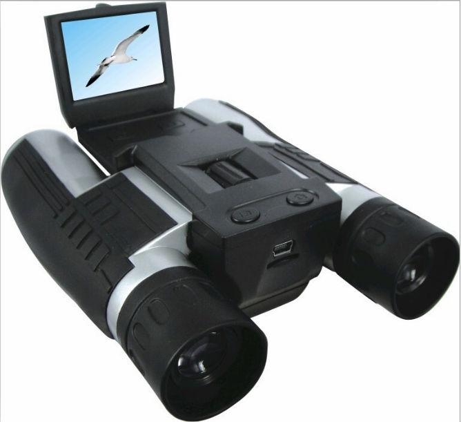 Professional 12x32 HD Binocular Telescope 5 MP digital camera 2.0'' TFT display full hd 1080p telescope video camera+8GB / 16GB