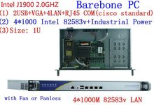 1U Pfsense Celeron J1900 Quad Core Network Security Control Desktop Firewall Router industry Computer 4 GbE