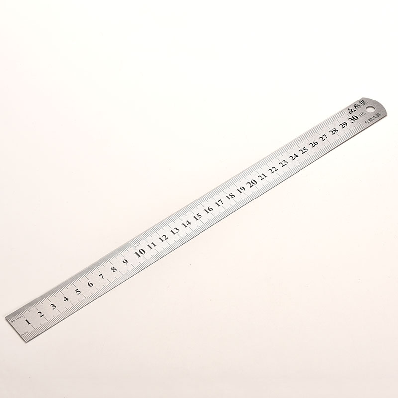 Stainless Steel Metal Ruler Metric Rule Precision Double Sided Measuring Tool 30cm Wholesale