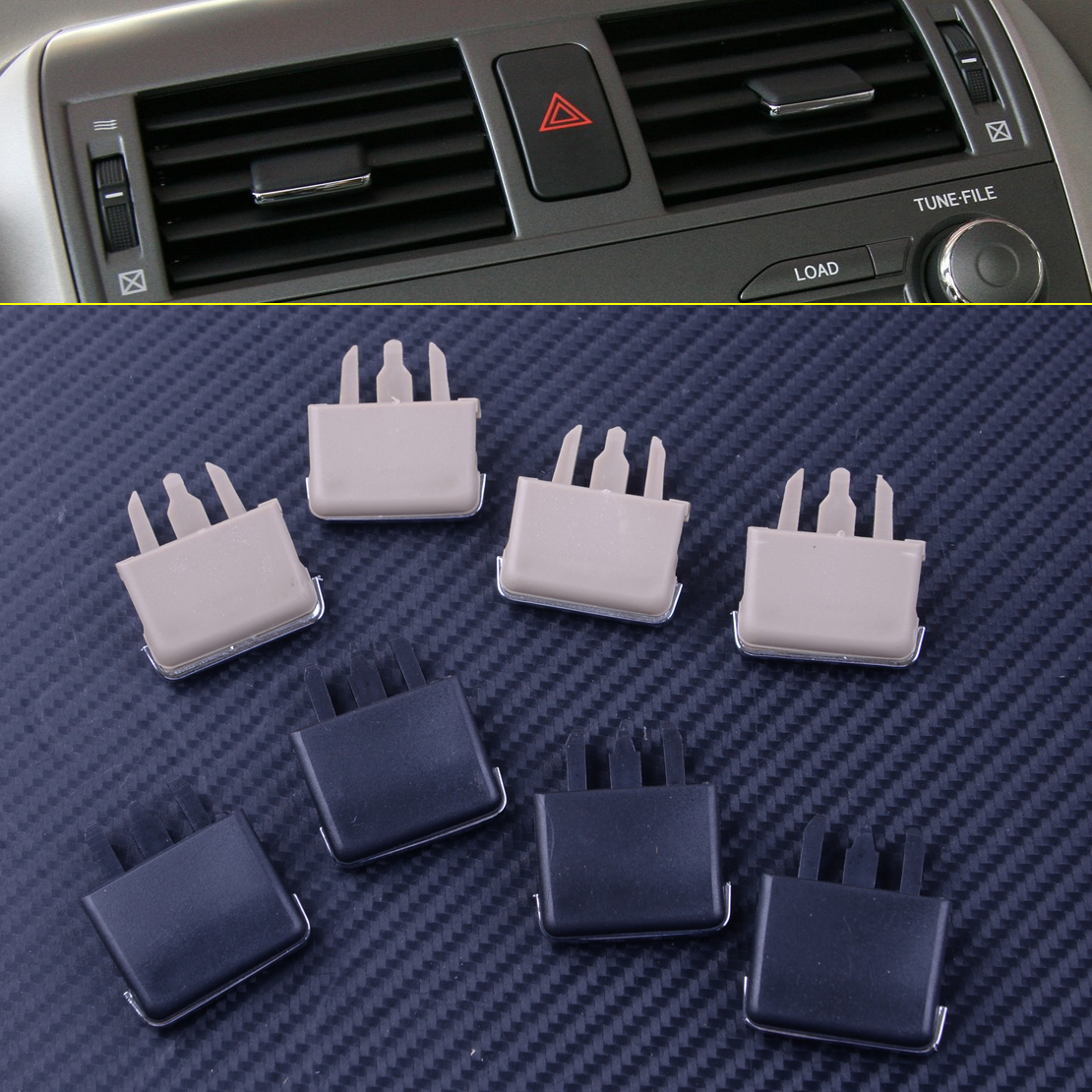 4Pcs/lot Car Center Dash A/C Vent Louvre Blade Slice Air Conditioning Leaf Clip For Toyota Corolla 2004 - 2008 2009 2010 image