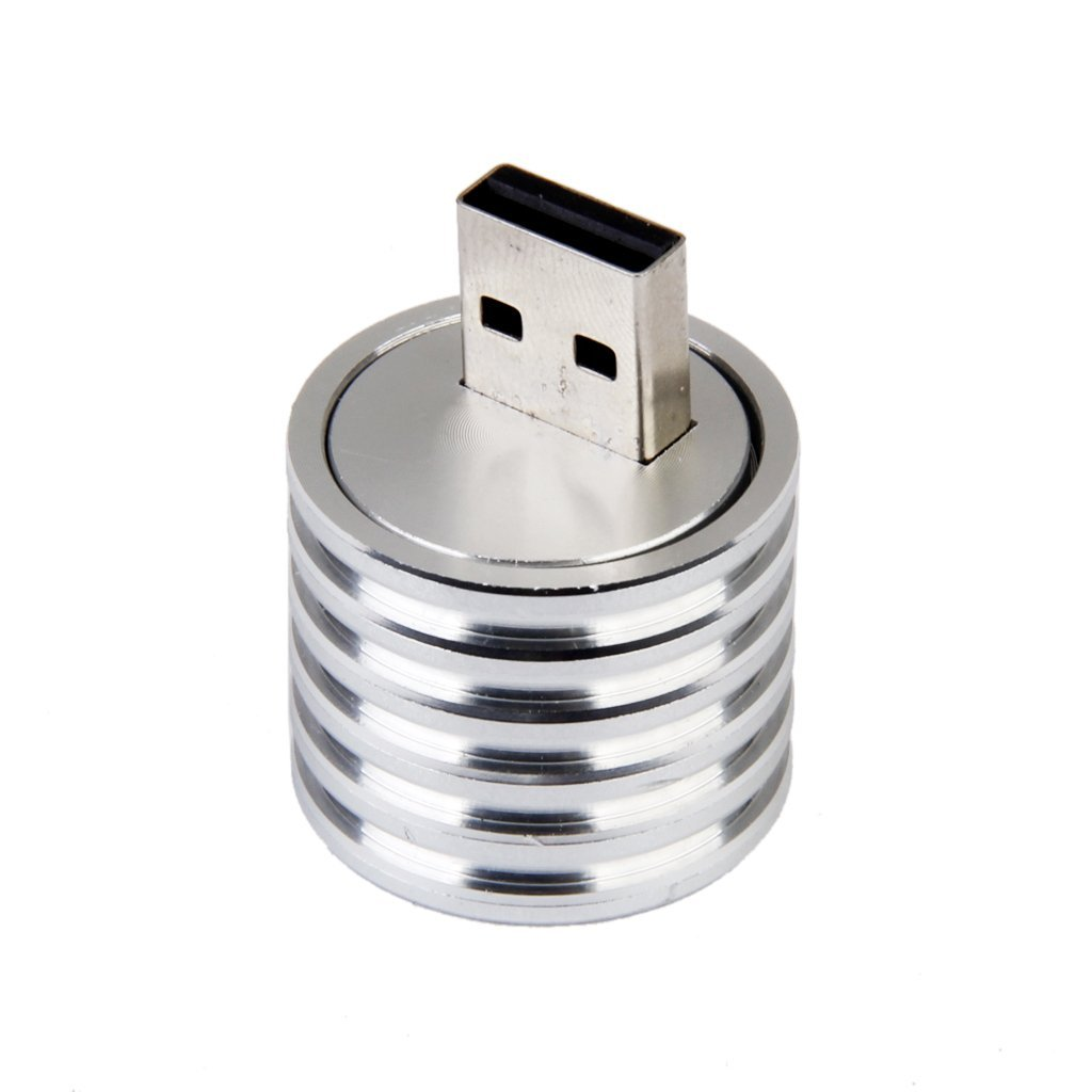New Aluminum 3W USB LED Lamp Socket Spotlight Flashlight White Light