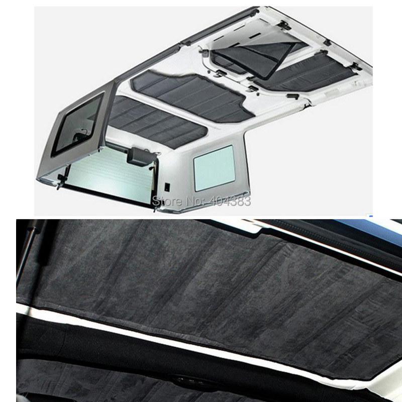 Good quality Car Accessories 4pcs Per Set Sound Deadener Hard Top Insulation Kit FoR Jeep Wrangler JK 4DOORS 2012 Up