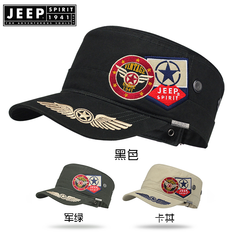 Image 4 - JEEP SPIRIT Brand New 2019 Fashion Flat Roof Military Hats Casual Sun Shade Bush Hat Baseball Field Cap For Men Women Gorras-in Men's Baseball Caps from Apparel Accessories on AliExpress