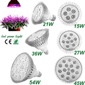 Led Light Fitolampa E27 15W/21W/27W/36W/45W/54W AC85-265V Red+Blue High Power Led Plant Grow Light for Hydroponic Led System