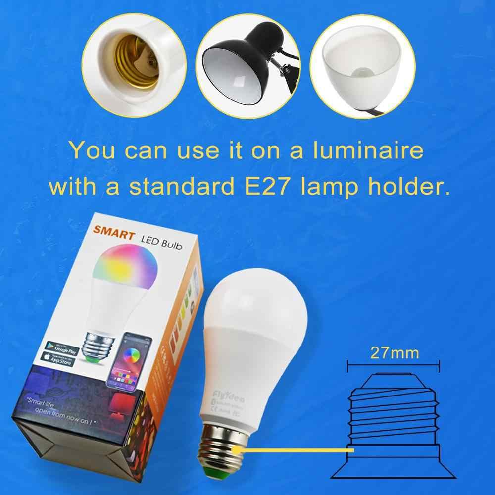 Bombilla inteligente inalámbrica Bluetooth 4,0 LED Magic RGBW lámpara de iluminación para el hogar 10W E27 cambio de Color regulable AC85-265V aplicar a IOS Android
