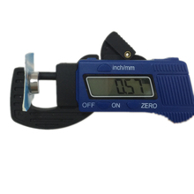 Best price 0-12.7mm Digital Thickness Gauge 0.01mm Mini LCD Dial Thickness gauge Caliper Meter Carbon Fiber Composites Width Measure Tools