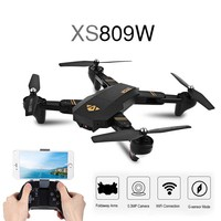 XS809W Mini Drone Foldable RC Quadcopter Selfie Drone With Wifi FPV HD Camera Altitude Hold Headless