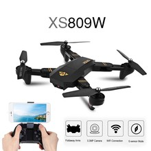 XS809W Mini Drone Foldable RC Quadcopter Selfie Dron with Wifi FPV HD Camera Altitude Hold Headless Mode RC Dron For Kids Gift