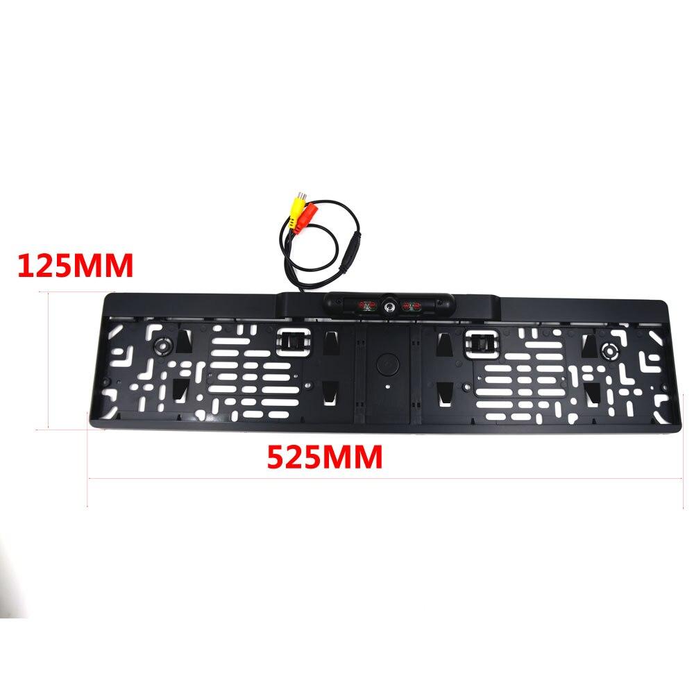 Bezprzewodowe noktowizor na podczerwień widok z tyłu kamery ue ramka do tablicy rejestracyjnej kamera cofania samochodu wodoodporna kamera cofania dla monitor gps