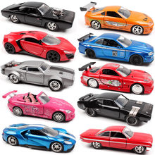 Jada 1:32 Scale Fast and Furious Ford DODGE Charger Chevy Nissan GTR Honda S2000 Lykan race diecast model car toy for collection(China)