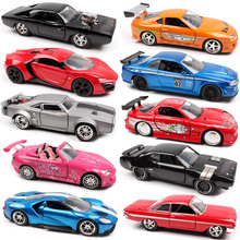 Jada 1:32 fast Ford DODGE Charger Chevy Nissan GTR Honda Lykan toyota supra race diecast & vehicle model Scale cars toy for kids