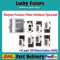 7 pçs/set Fibra Óptica Máquina de Emenda de Fusão Ruiyan RY-F600P Titulares Com Um Par de Eletrodos Ruiyan
