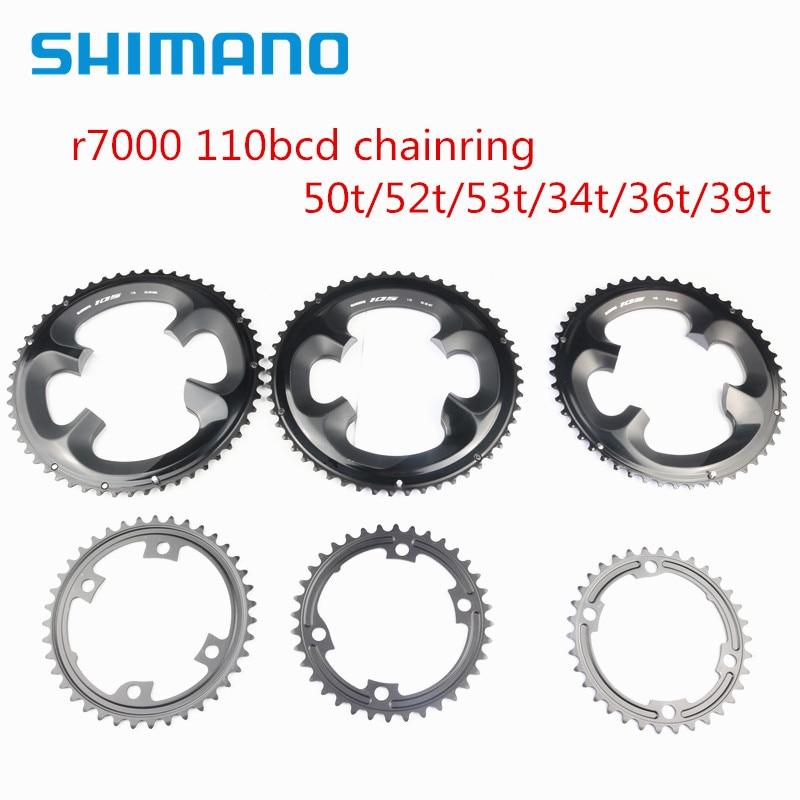Shimano 105 r7000 estrada bicicleta pedaleira 110bcd 50t 52t 53t 34t 36t 39t para r7000 r8000 pedaleira