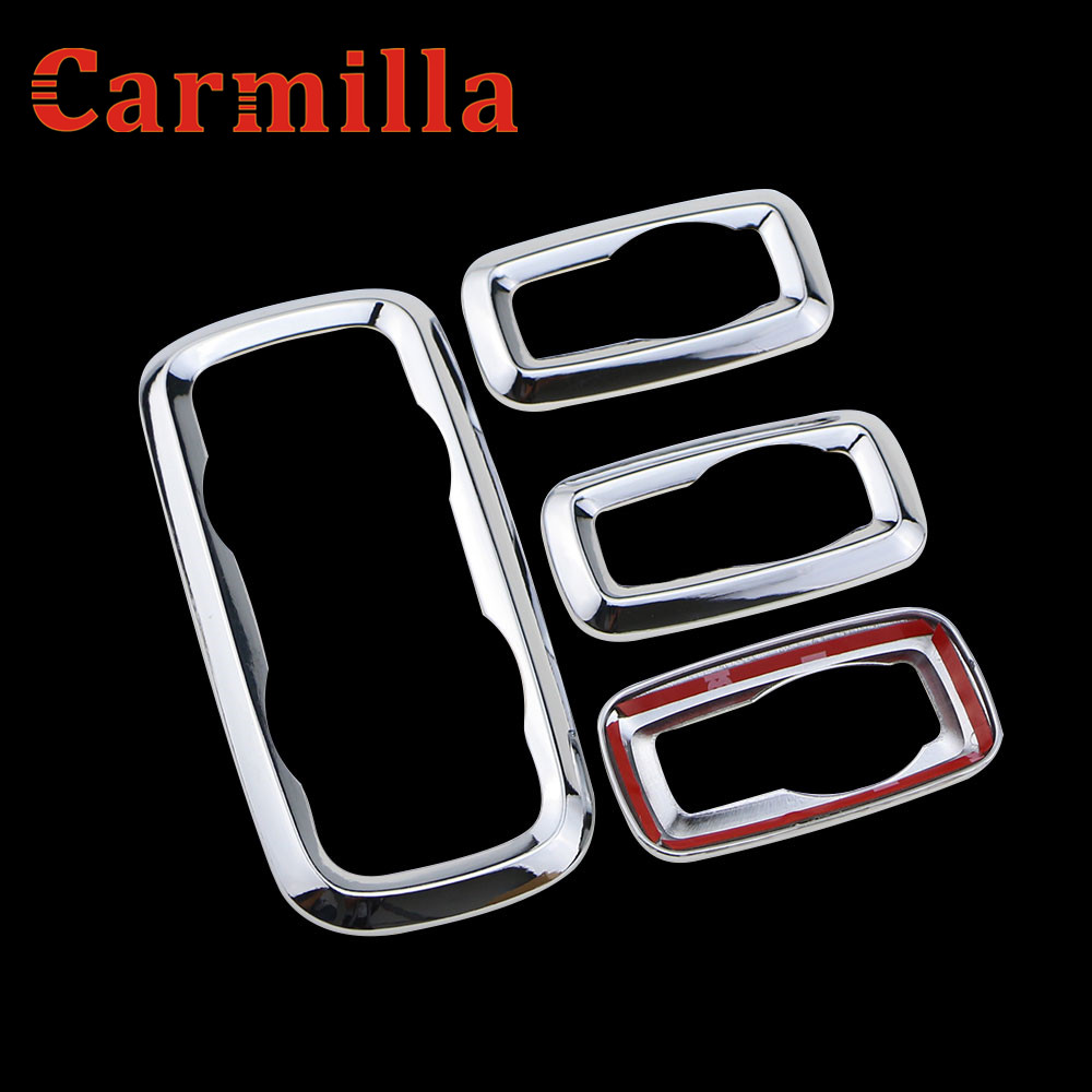 Carmilla abs chrome trim window lifter switch decoration refires regulator panel cover for ford ecosport fiesta