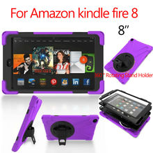 """For Amazon kindle hearth eight Pill Case eight"""" Heavy Responsibility Fundas Shockproof Armor Hydrid Case PC Silicon Protecting Stand Hand Holder"""