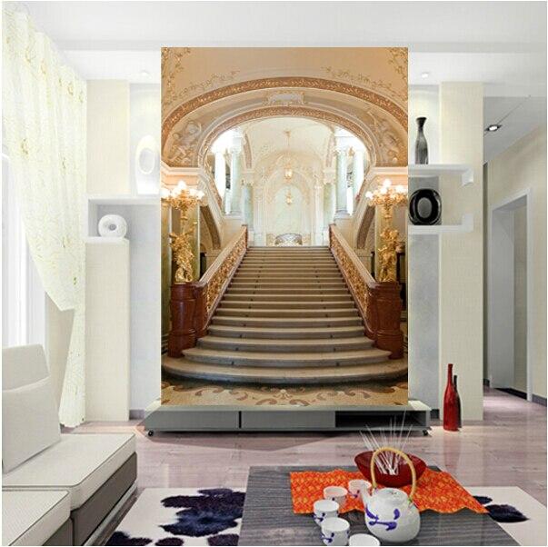 Gros 3d couloir escalier murale 3d papier peint pour salon chambre ...