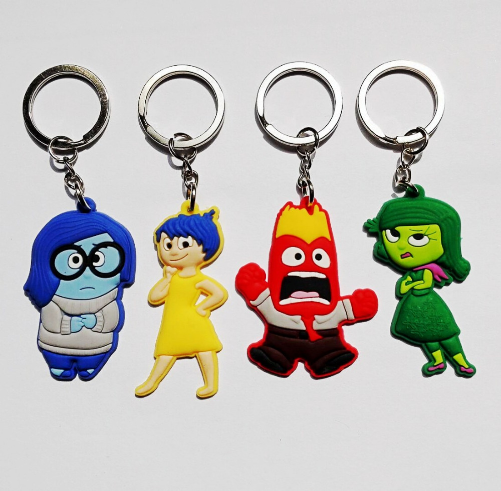 40PCS  Inside out  Key chains  Action figure Keyring Keychain kids toy Gift Bag Parts & Accessories Party Gift supplies cute donkey keyring key bag car key holder handmade cloth student handbag 1 pcs
