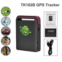 10pcs/lot GPS Locator Vehicle GSM TK102B Car Mini Realtime Online GSM GPRS Tracking Device Locator GPS Tracker TK102 Cars Pet