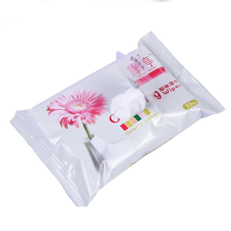 10Pcs/Pack Quick Makeup Remover Wet Wipes for Lip Facial Eye Makeup Remover Cotton Makeup Wet Wipes Removal Wipes Skin Care Z3