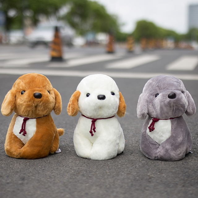 1pc 20cm Cute Doodle Dog Plush Toy Soft Kawaii Puppy Dog Doll Kids