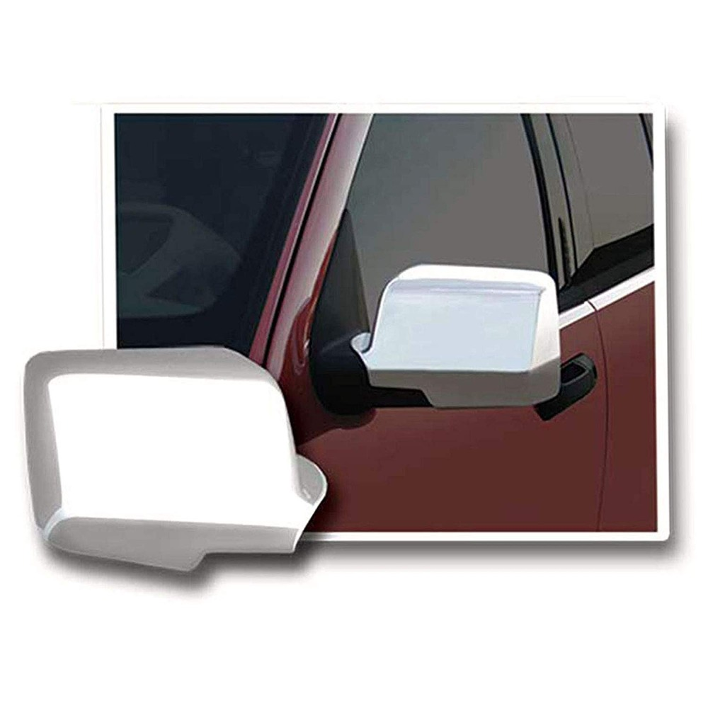 Triple Chrome Plated Door <font><b>Mirror</b></font> Cover for 06-11 <font><b>Ford</b></font> Ranger / 06-10 <font><b>Explorer</b></font> / 07-10 <font><b>Explorer</b></font> Sport Trac / 06-09 Mercury image