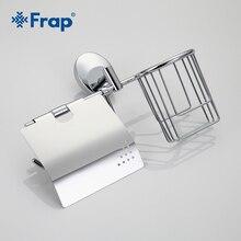 Frap جديد 1 مجموعة سلة من الفولاذ المقاوم للصدأ حامل ورق المرحاض مع الجرف الفضاء الألومنيوم تصاعد مقعد اكسسوارات الحمام F1603 1