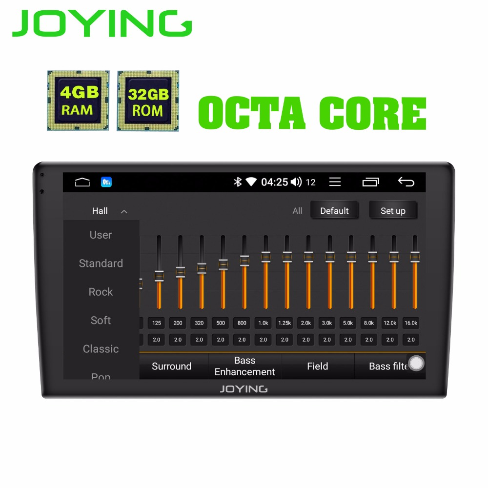 Joying 1 Din Android 8.1 Car Multimedia Player Radio 9 IPS Screen with 2.5D Glass GPS 4G Head Unit Support Carplay Fast Boot