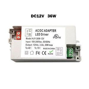 Image 3 - 12V LED Driver Transformers AC110V 220V TO DC12V Power Supply Adapter for 6W 15W 30W 36W 60W LED light bulb strips Household Use