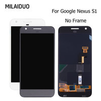 LCD Display For HTC Google Pixel Nexus S1 Touch Screen Digitizer Black White No Frame Replacement Best Quality 5.0 Inch