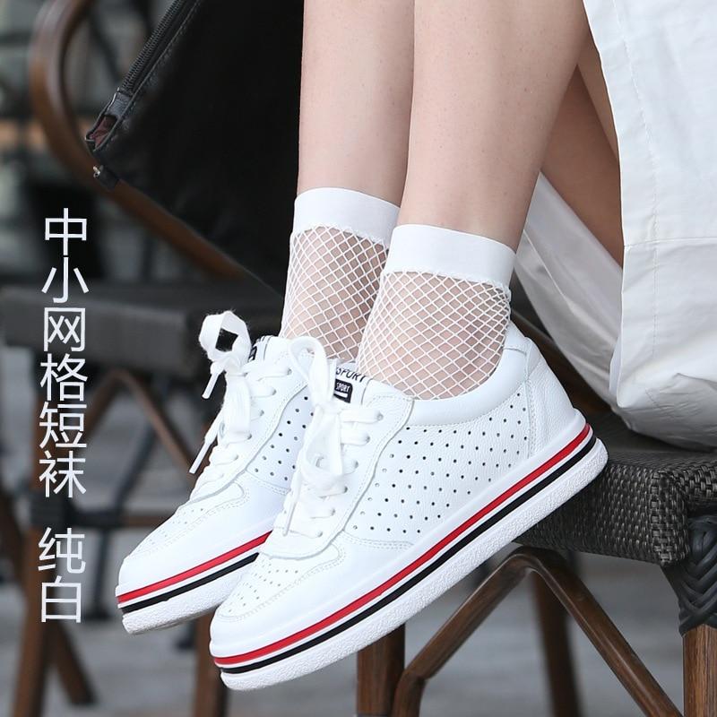 Fishnet White Hollow Lattice Breathable Net Socks
