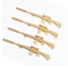 5 pcs Cute Funny Kawaii Pens Canetas Rollerball Pen School Supplies Papelaria Creative Gold Gun Shape Ballpoint Stationery