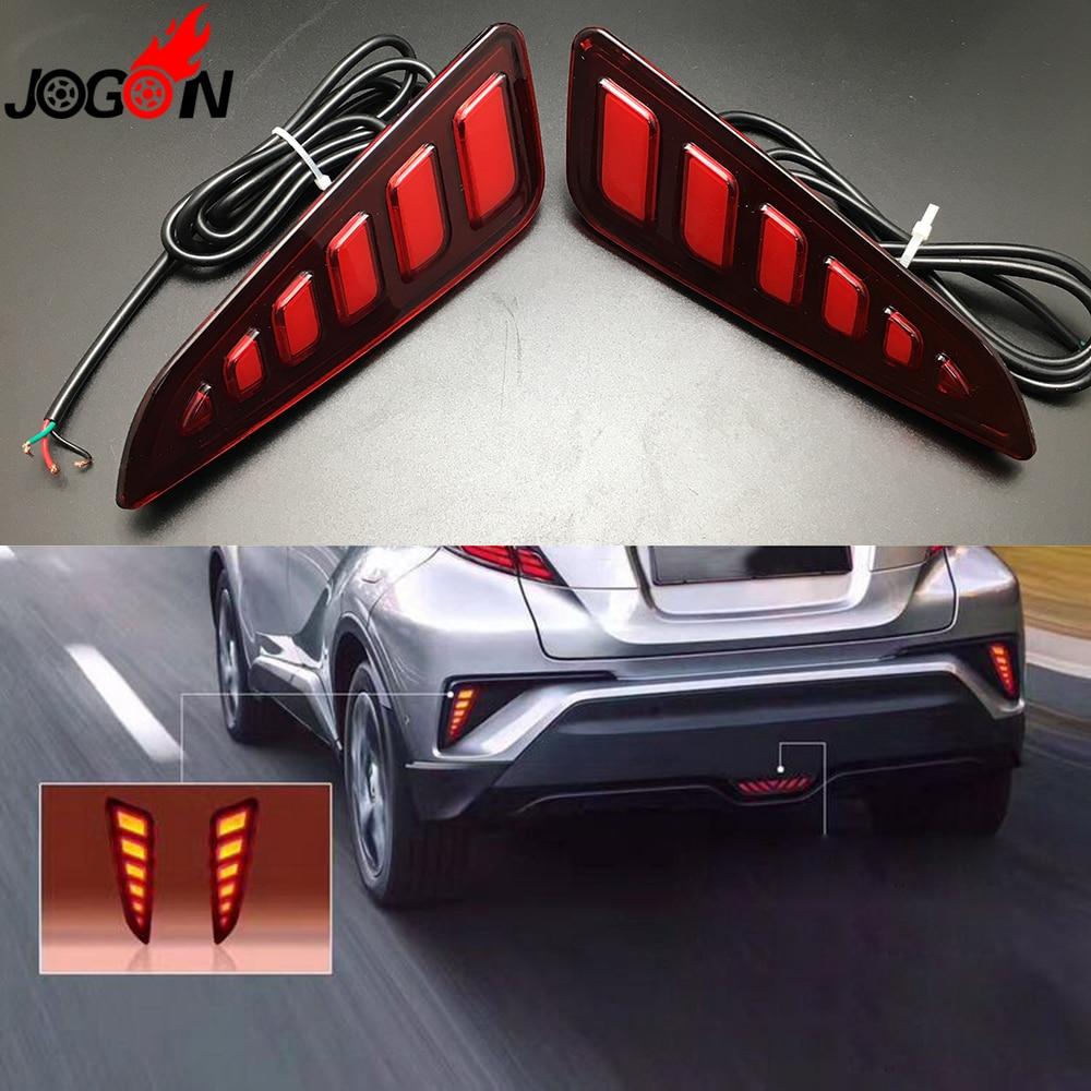 For Toyota C-HR CHR 2016 2017 Car Rear Fog LED Brake Light Tail Red Lamp Assembly Anti C ...