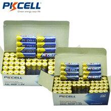120 piece 콤보 팩 PKCELL 1.5V 엑스트라 헤비 듀티 배터리 60pcs AA R6P + 60pcs AAA R03P 탄소 아연 단일 사용 건전지