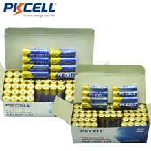 120 szt. combo pack PKCELL 1.5V dodatkowy akumulator do pracy przy dużych obciążeniach 60 szt. AA R6P + 60 szt. AAA R03P cynkowo węglowe baterie jednorazowego użytku