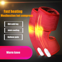 Health Care 1 Pair Electric Heating Knee Pads Far Infrared Magnetic Therapy Arthritis Rheumatism 220V Adjustable Temperature