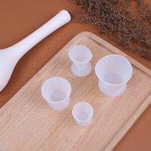 Image 3 - 4 pçs/pçs/set tigelas de mistura de silicone laboratório dental s/m/l tamanho copo de mistura auto solidificação copos dentista dental equipamentos médicos tigela