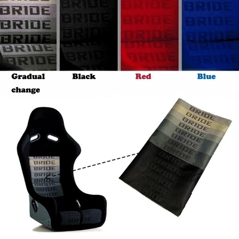 JQTUNING-RACING JDM Style BRIDE Racing Car Seats Cover Fabric Bride Fabric (1PC=1m*1.6m )