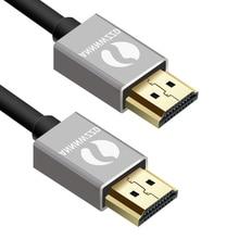 Câble HDMI professionnel 3D Full HD 1080p canal de retour Audio (ARC) 24k plaqué or