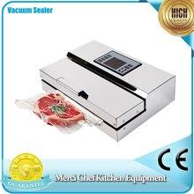 Lebensmittel Vakuum-versiegelung Verpackungsmaschine Semi-handels Vacuum Sealer Edelstahl Körper