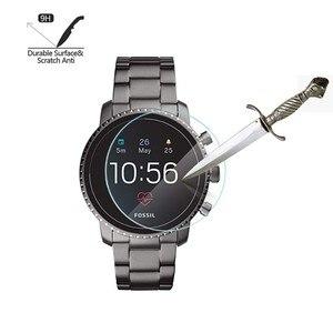 Image 5 - 2Pack Für Fossil Q Explorist HR Gen 4 0,3mm 2,5 D Klar Gehärtetem Glas Screen Protector Smartwatch Bildschirm schutz Schutz Film