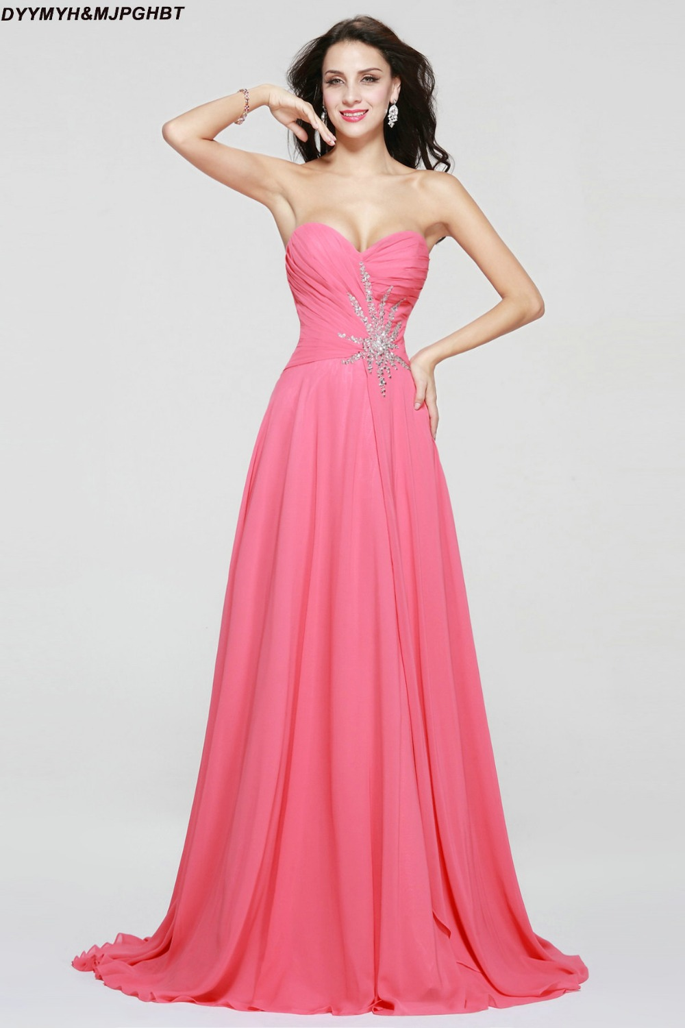 Online buy wholesale long hot pink bridesmaid dresses from china afforable hot pink maid of honor gowns sweetheart with pleatbeads peach long bridesmaid dresses ombrellifo Gallery