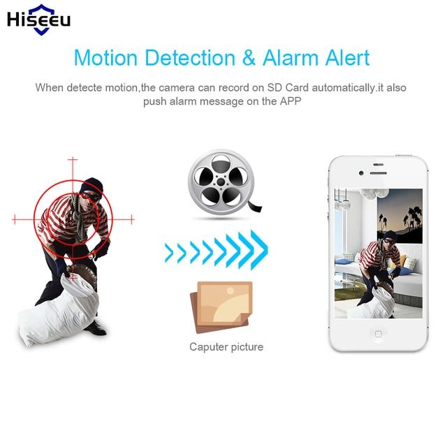 Hiseeu Home Security 720P 1080P Wifi IP Camera Audio Record SD Card Memory P2P HD CCTV Surveillance Wireless Camera Baby Monitor 2