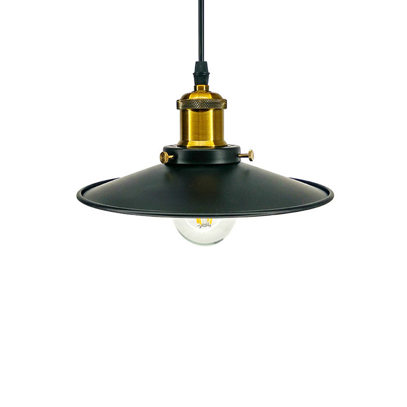 Black Loft Vintage Pendant Lights Fixtures Iron Lampshade For Coffee Dining Room Kitchen Restaurant Decoration Hanging Lamp