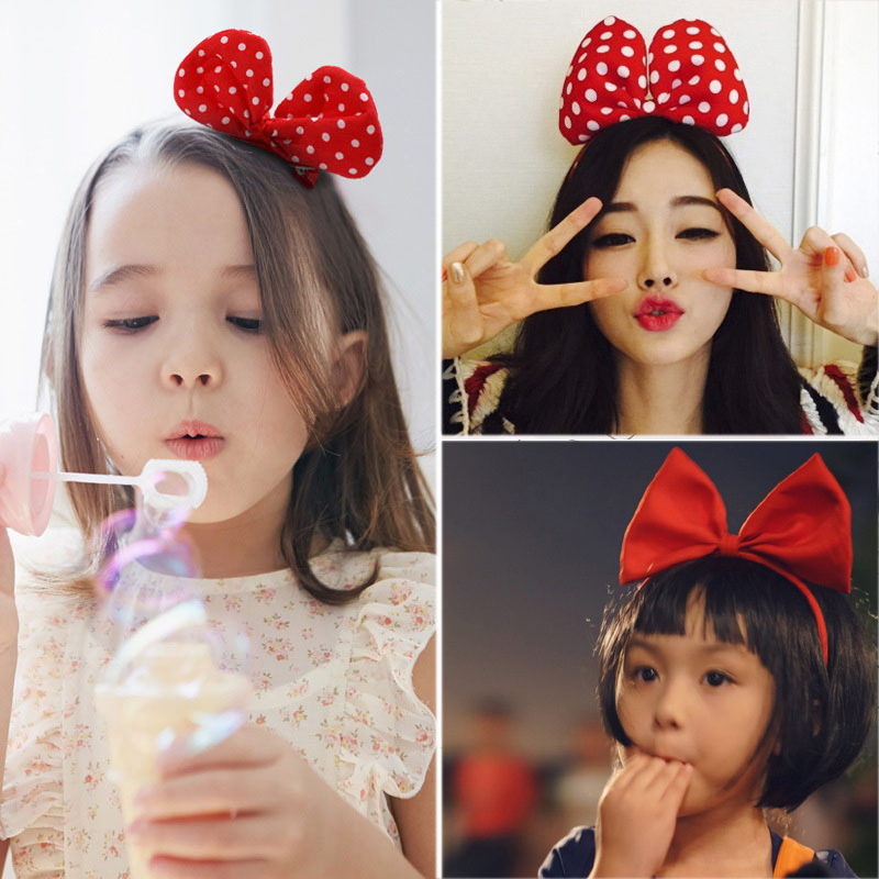 Cute Hair Side Clip Hair Pins Kids Snap Children Spotted Bow Hair Accessories Girls Princess Baby Hair Pins Little Girl Headwear