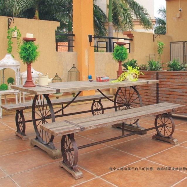 american furniture export european industrial design after doing the old wrought iron wood dining table outdoor